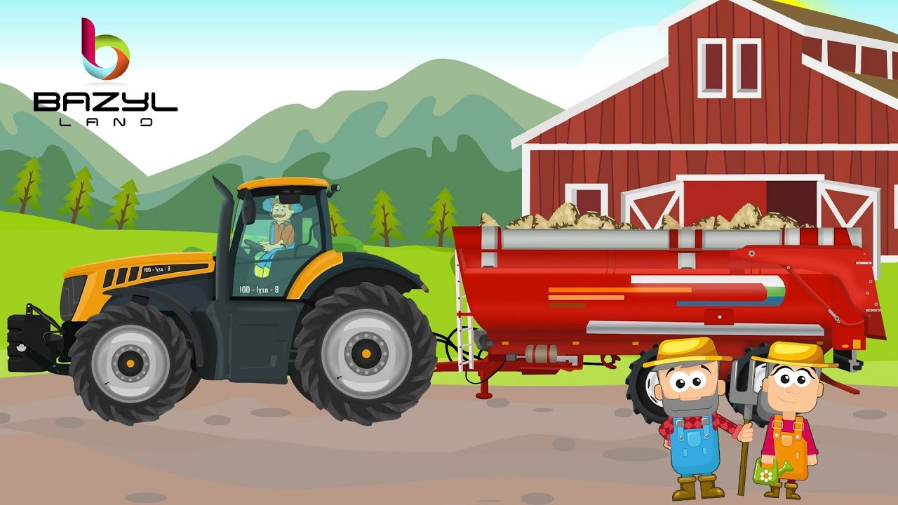 Sugar Beet Machine - A Short Story about a Tractor   JCB Tractor and Big Trailer  - Farms & Drams
