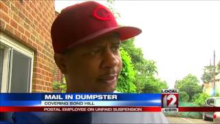 Postal Employee Suspended For Dumping Mail In Dumpster
