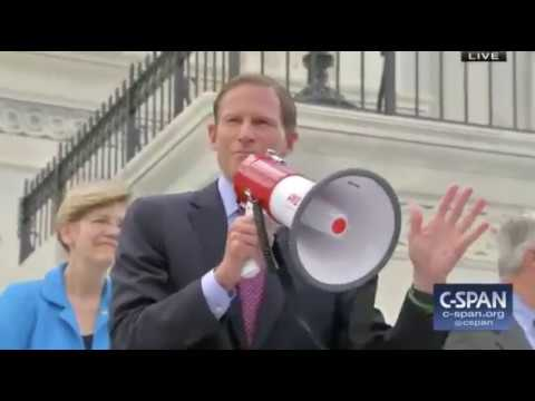 Senate Democrats and Guests Speak on the Steps of Capitol Hill