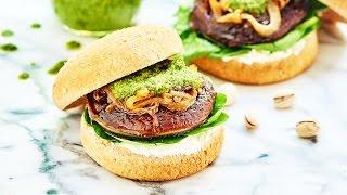 Portobello Mushroom Burger Recipe - Show Me The Yummy - Episode 18