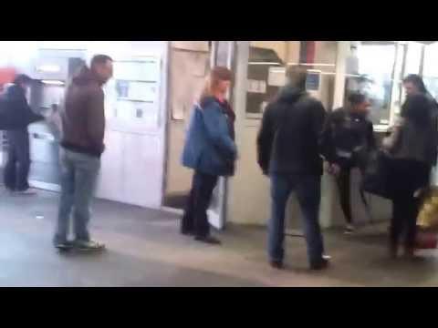 Crazy girl kicks undercover police in Rotterdam