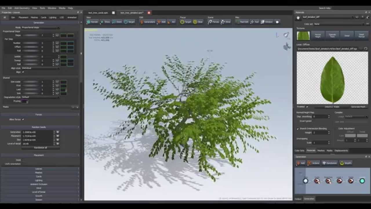 09 Using Arnold procedurals and Speedtree to create a forest Part 1