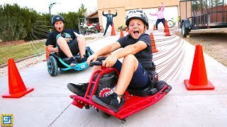 Ride on Cars vs Power Wheels vs Drift Cart Race!