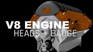 CNC Machining V8 Engine Heads and Badge Pins   WW221