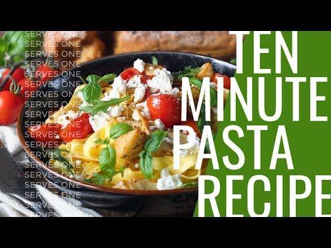 10-Minute Tagliatelle with Cherry Tomatoes, Artichokes, Feta & Rocket