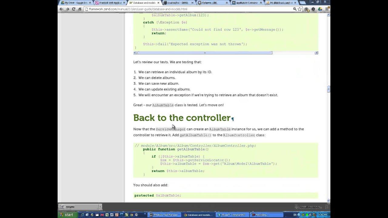 Codenvy ZF2 Tutorial App DB Form CRUD  Simply Easy Fast