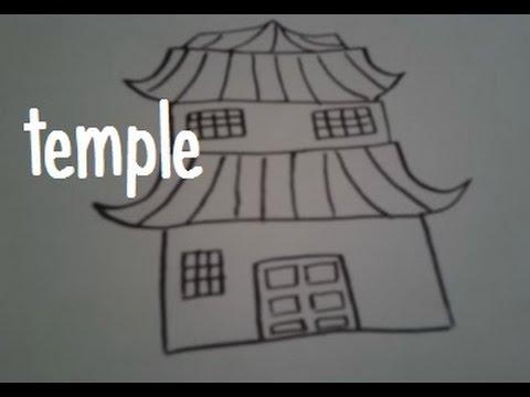 Dessin Japonais Facile dessiner un temple japonais - youtube