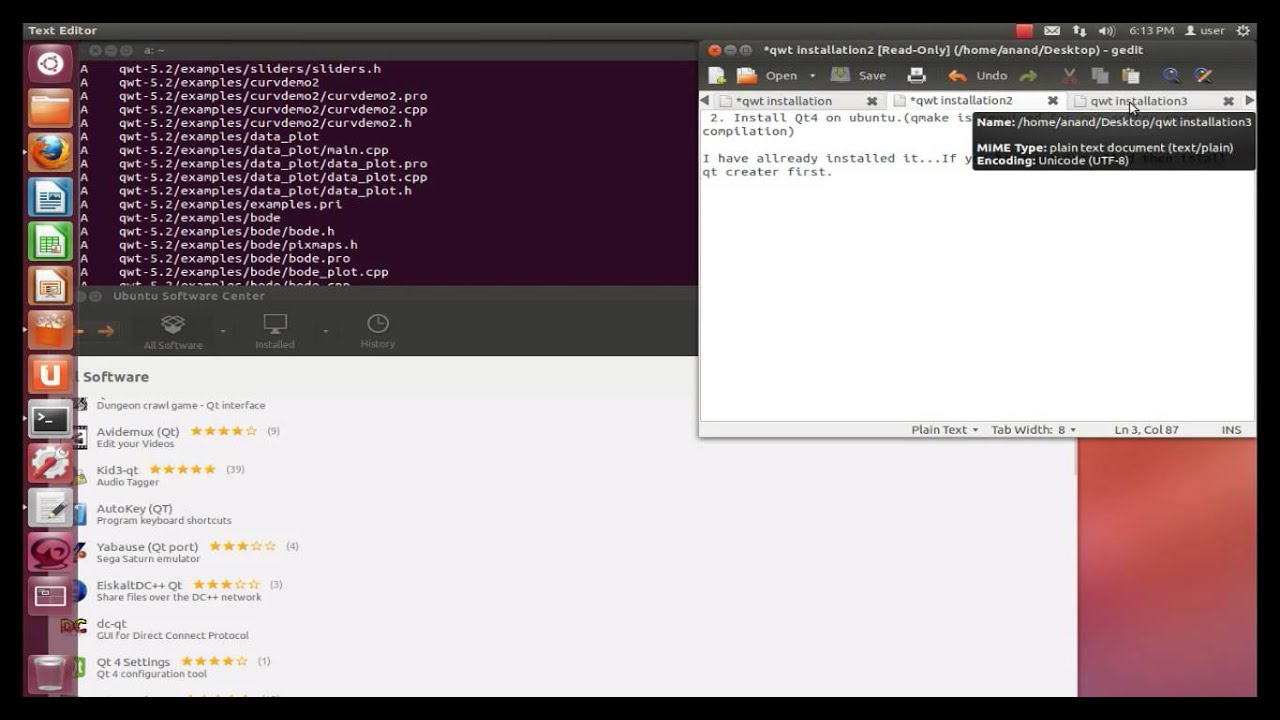 Qwt installation on ubuntu part1