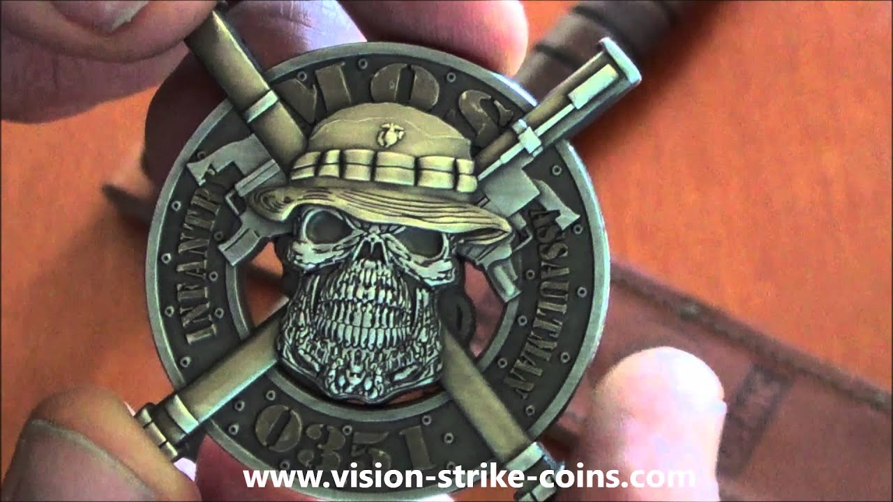 usmc infantry assaultman coin from vision