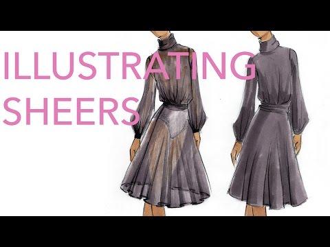 Fashion Illustration Tutorial: Sheer Fabrics