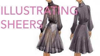 Fashion Illustration Tutorial: Sheer Fabrics