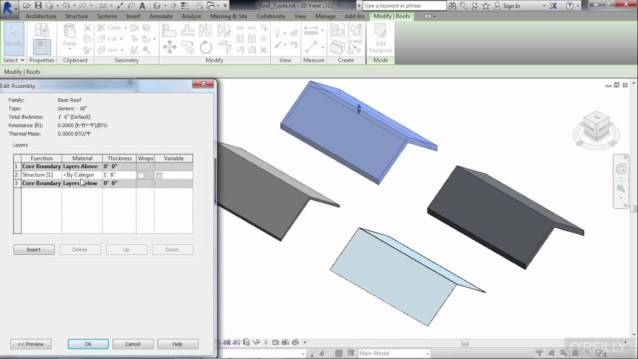 Revit Architecture Roof Design Tutorial Roof Types