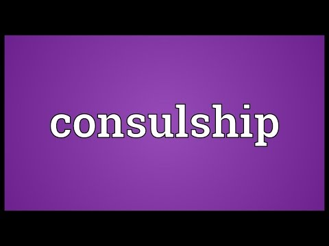 Consulship Meaning