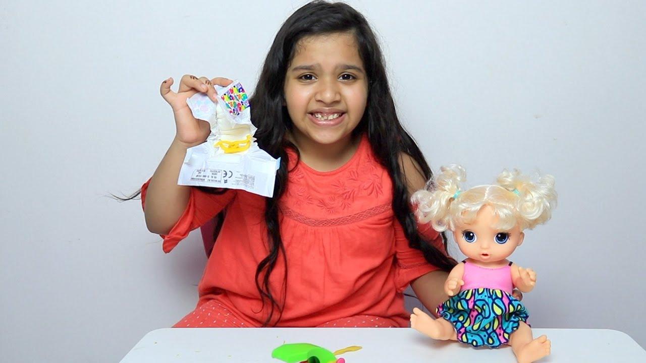 شفا لعبة بيبي دول - العاب اطفال Shfa preten play with Baby doll