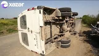 Azərbaycanda avtobus aşdı: 3 ölü, xeyli yaralı var