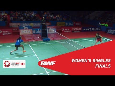 F   WS   Akane YAMAGUCHI (JPN) [4] vs. PUSARLA V. Sindhu (IND) [5]   BWF 2019