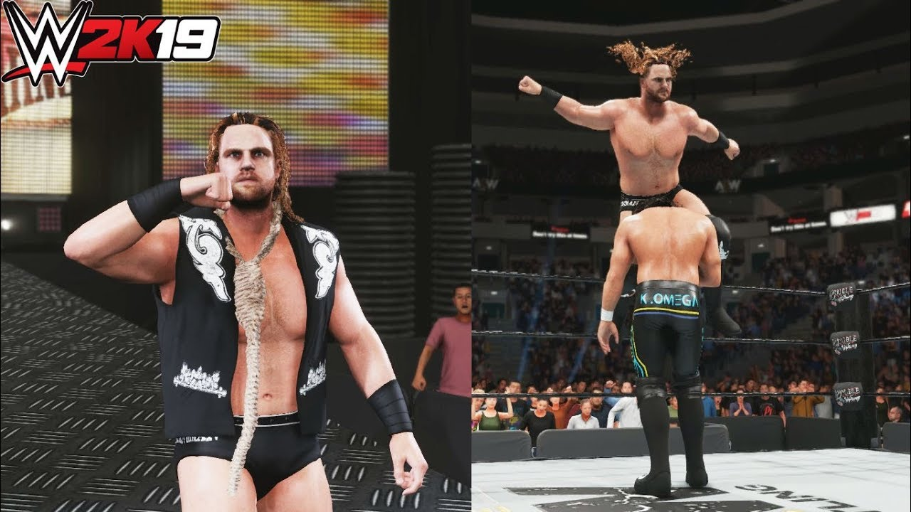 WWE 2K19 : Hangman Page AEW Updated Attire & Gfx ft (Entrance,  Finisher,Signature & Victory Motion)