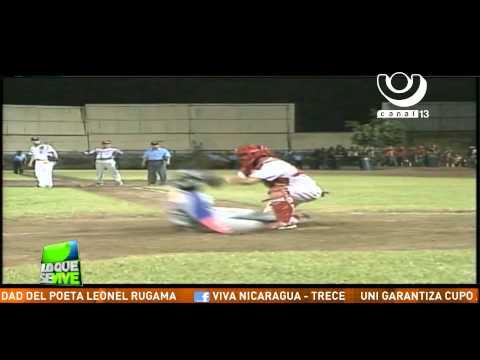 La polémica jugada de out en home plate en el último juego de la final Bóer vs Chinandega