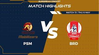 Match 13 - PSM vs BRD | Highlights | FanCode ECS Czech Republic Day 4 | Prague 2021 | ECS21.304