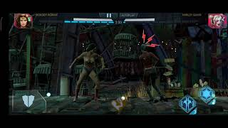 wounderwomen vs harley quinn injustice 2 gameplay