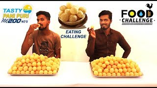 pani puri eating record