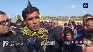 غزة تشيع الشهيد أبو مساعد وتنتفض ضد الاحتلال والقرارات الأمريكية - (12-1-2018)