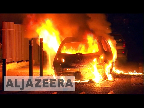 Protests in France as police accused of black man's rape