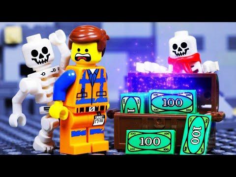 LEGO MOVIE 2 SKELETON SHOWDOWN MONEY FAIL - TOY ANIMATION for KIDS