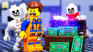 LEGO MOVIE 2 SKELETON SHOWDOWN MONEY FAIL - TOY ANIMATION for KIDS
