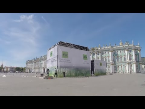 Timelapse: RT building special studio for Confederations Cup in Saint Petersburg