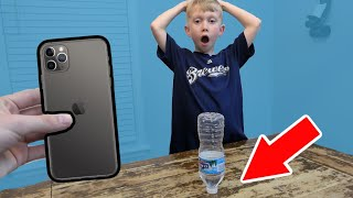Land Bottle Flip, Win iPhone 11 (PART 2) | Colin Amazing