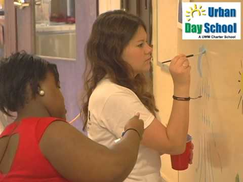 Make a Difference Day 2014:  Mural Painting at Urban Day School
