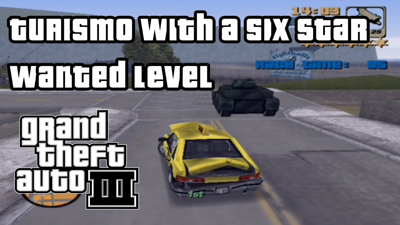 GTA 3 (PS2) Can you beat Turismo with a six-star wanted ...