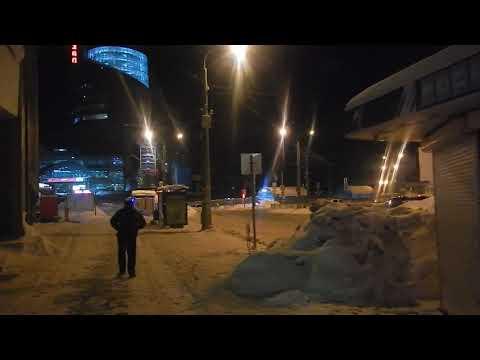 Самара | около ЖД вокзала ночью
