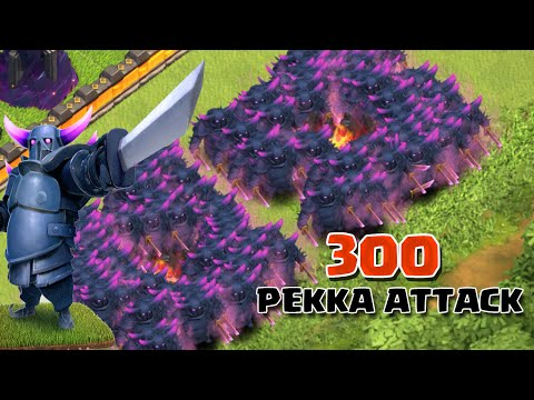 Clash of Clans - 300 Pekka Attack (Massive Clash Of Clans Gameplay)