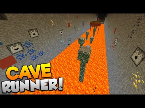 Minecraft CAVE RUNNER PARKOUR! | (ESCAPE THE EVIL WITHER!!)