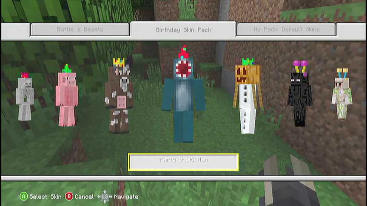 how to buy skin packs for minecraft xbox 360