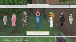 Birthday Party Skin Pack - Minecraft Xbox 360 Edition FREE DLC