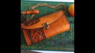 Фото Самодельная сумка клатч из кожи растительного дубления   Veg Tan Leather Handbag
