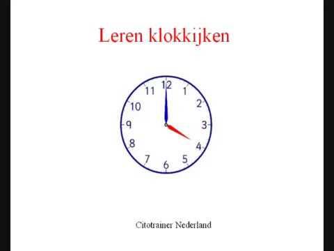 Verrassend Klok kijken - ik leer klok kijken - ik wil klok leren kijken - YouTube UR-35