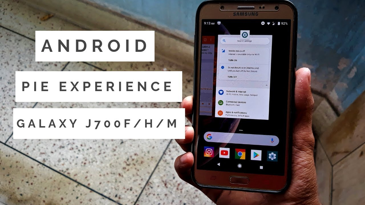 Android Pie Experience For The Galaxy J700F/H/M (2015) by Droid NINJA!