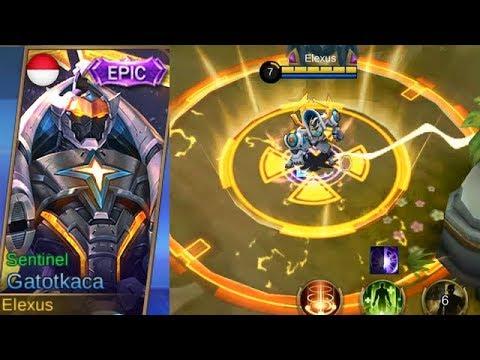 Gatotkaca Epic Skin Sentinel Gameplay (Super Glorious Animation) - Mobile Legends