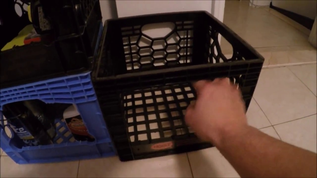 Life Hack For Storage ((milk Crate))