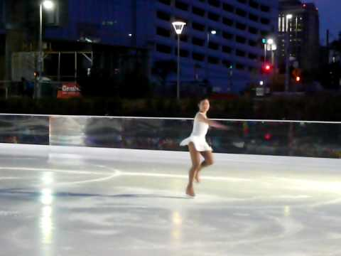 Adult Skating Exhibition at Discovery Green, Houston Texas, Jan. 11, 2010