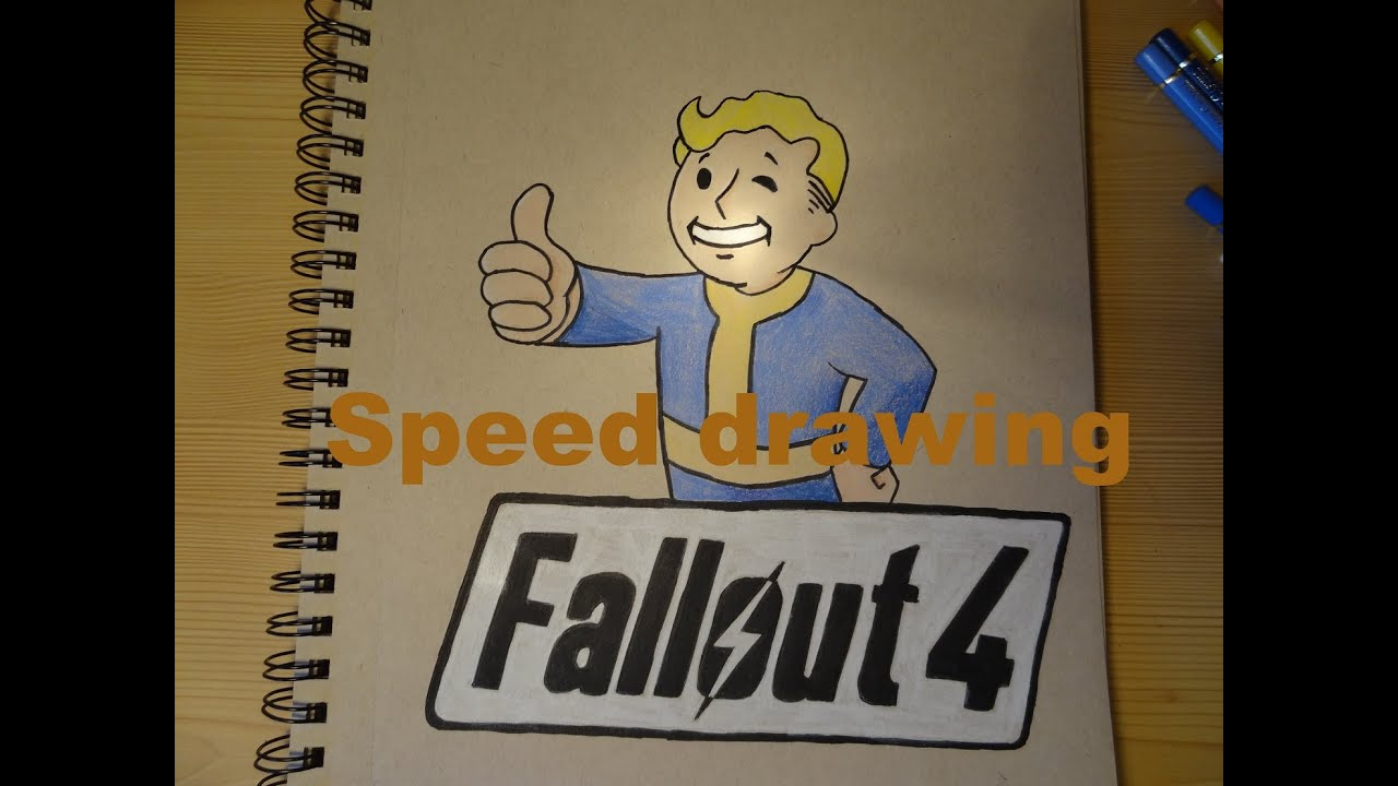 Speed drawing Fallout 4 - YouTube