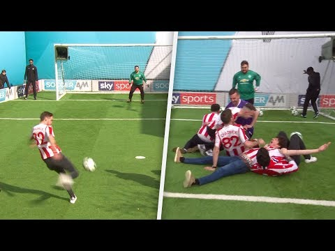 Stoke City fans break Soccer AM volley challenge record!!!