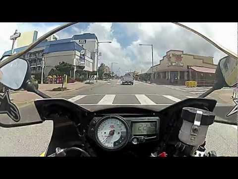 GSXR 1000 VA Beach Oceanfront ride (GoPro HD Hero2)