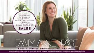 KEYNOTE, Emily Anne Page: Grow Your Small Business - Sales For Entrepreneurs
