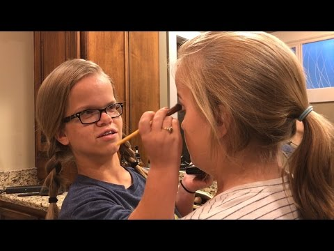 Watch Anna Johnston Practice Cosmetology By Giving Her Sisters Makeovers