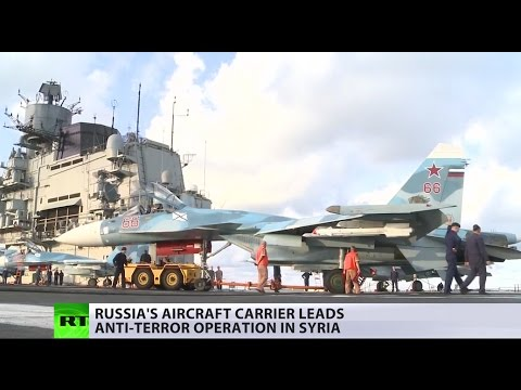Flagship of the Russian Navy in Syria: Onboard aircraft carr